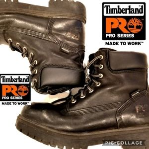 Timberland pro series work boots steel toe